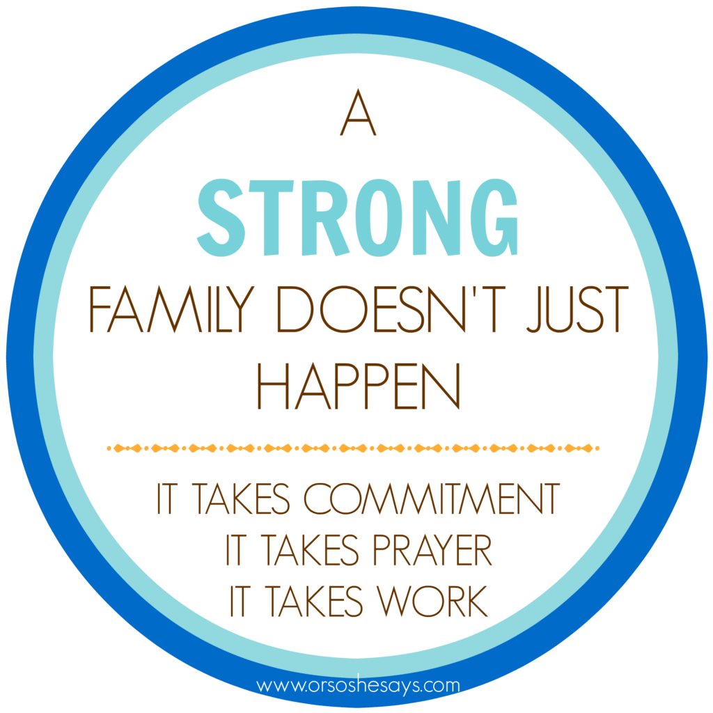 A fun and simple Family Night on how to create a strong family!