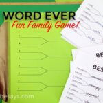 Word Game: Find the Best Word EVER! Word Pool and Easy to Print Brackets Included~ Great for Family Home Evening! (she: Rachel)