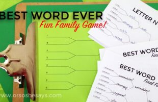 Word Game: Find the Best Word EVER ~ Fun for Groups!