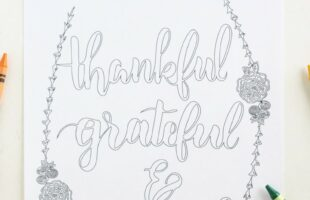 Free Printable Thankful Coloring Page (she: Liz)