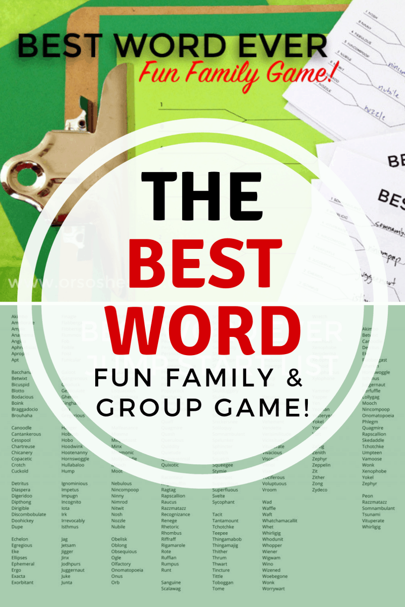 The Best Word ~ Family and Group Game #groupgame #familyfun #familytime #games