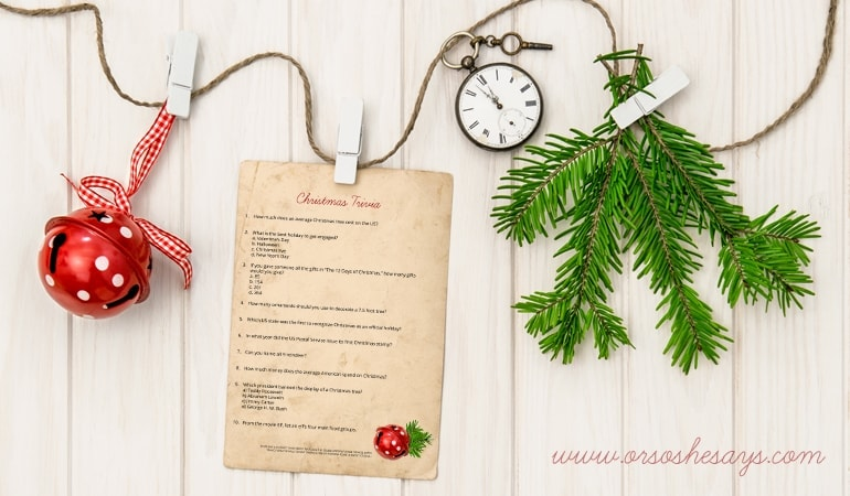 picture relating to Free Printable Christmas Trivia known as Xmas Trivia Quiz ~ Totally free Printable (she: Rachel)