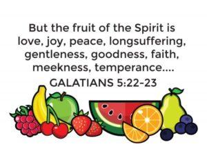 Family Game for Family Night: Fruits of the Spirit (she: Rachel)