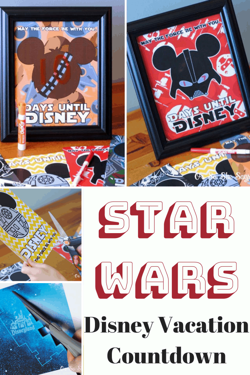Lots of fun ways to present a Disneyland vacation to your Star Wars fan! A Star Wars Disney Vacation game included too! #starwars #disneyland