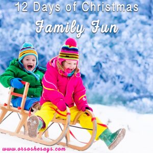 12 Days of Christmas Family Fun ~ Family Tradition