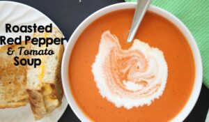 Tomato Soup with Roasted Red Peppers (she: Leesh & Lu)
