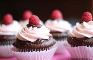 Decadent Chocolate Cupcakes with Ganache & Raspberry Buttercream (she: Leesh & Lu)