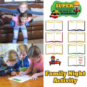 Super Book of Mormon Reading Chart for Kids (she: Adelle)