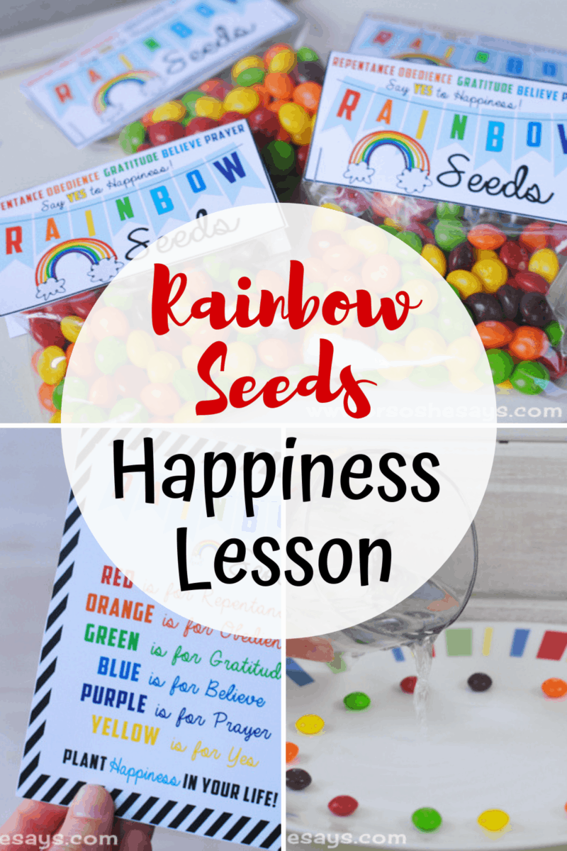 Rainbow Seeds ~ Plant Happiness ~ Lesson included!