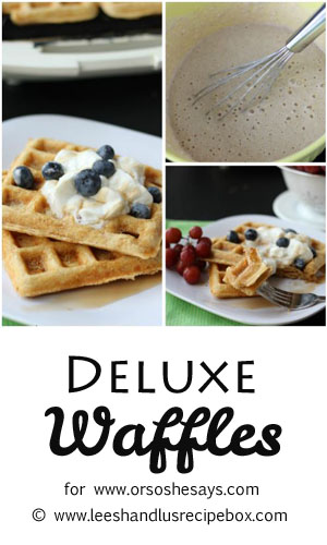 With only seven ingredients, these deluxe waffles take the hassle out of homemade. Get the recipe on www.orsoshesays.com