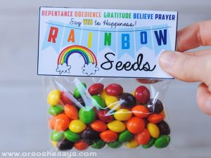Plant Happiness with Rainbow Seeds – Family Night Lesson and Treat (she: Adelle)