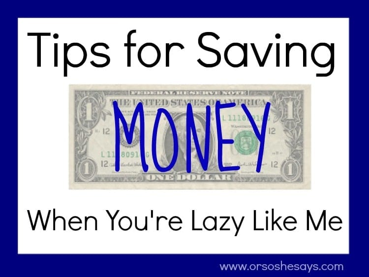 I love saving money, but I hate having to clip coupons like it's my job! If you want to learn how I curb my spending without too much effort, check out today's post on www.orsoshesays.com.