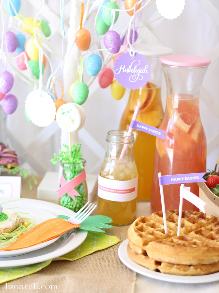 Create a fun and special Easter brunch for kids this year. Teach them the true meaning of Easter. @lizoncall.com