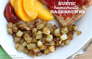 Breakfast for dinner is always a winner! Rustic homemade hashbrowns are sure to be a hit with the whole family, and they can be dressed up or down. Get the recipe on www.orsoshesays.com today.