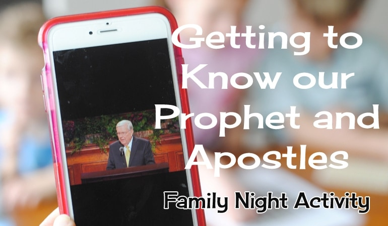 LDS General Conference Family Night Lesson – Come Listen to a Prophet's Voice (she: Adelle)