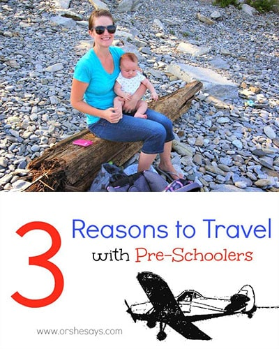 Don't be afraid to travel with preschoolers! The memories you make are so worth it, and it'll probably be easier than you think anyway! Check out the reasons why I think it's important to go for it! www.orsoshesays.com