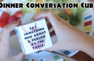 Family Dinner Conversation Cube – Family Night (she: Adelle)