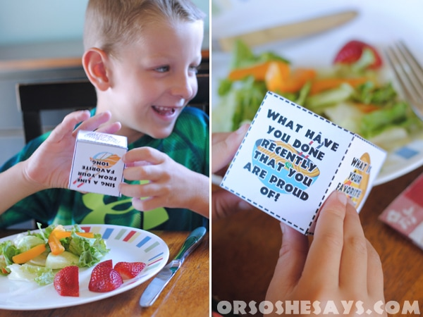 Did you know that regular family dinner is actually considered one of the most important activities that families can do together? It's true! See Adelle's family night lesson that includes a fun dinner game! www.orsoshesays.com
