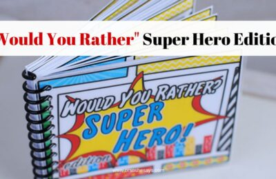 """Play this """"Would You Rather"""" super hero edition with the whole family! www.orsoshesays.com"""