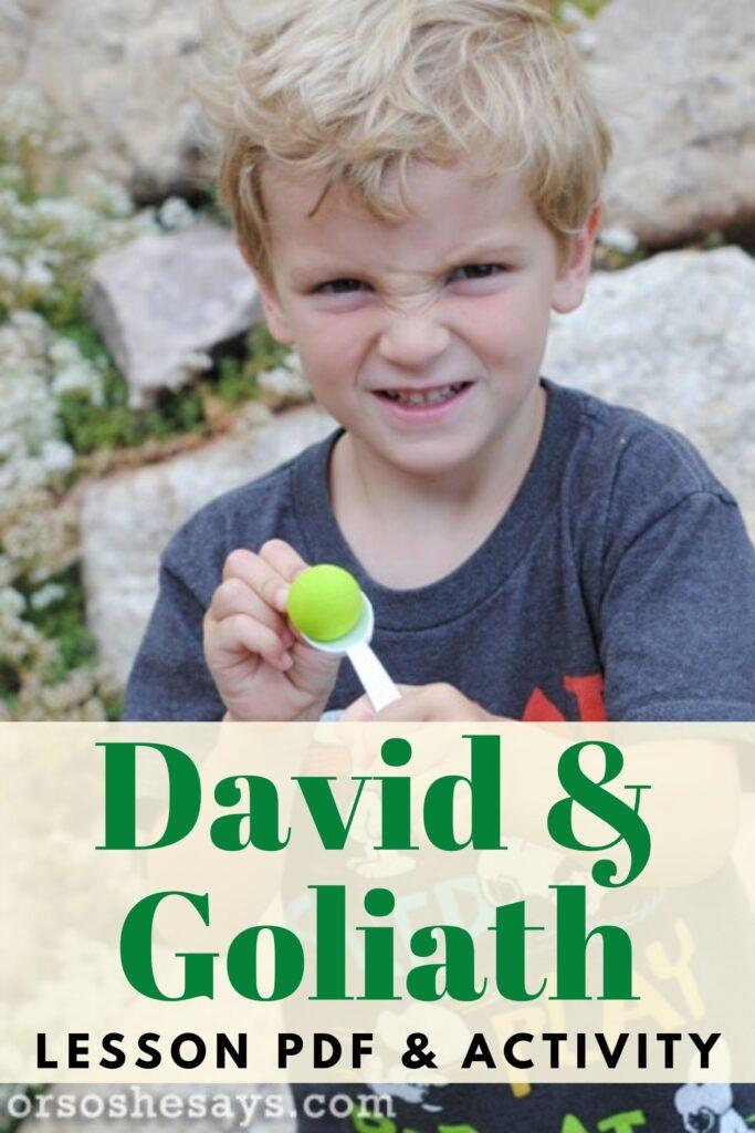 David and Goliath pdf lesson