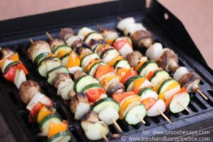 Grilled Rosemary Chicken & Veggie Kebabs (she: Leesh and Lu)