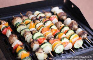 Grilled Rosemary Chicken & Veggie Kebabs (she: Leesh and Lu)