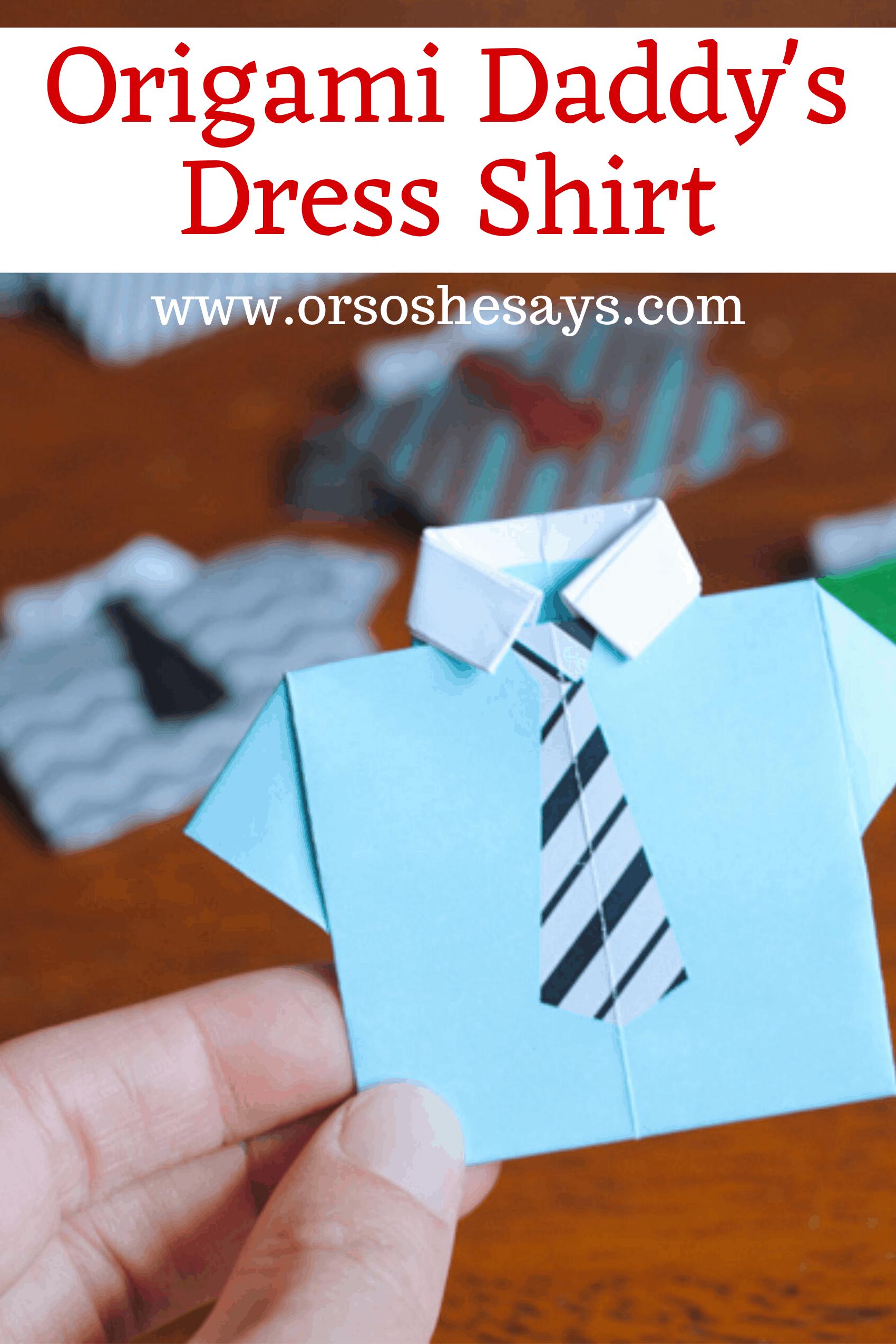 origami dress shirt