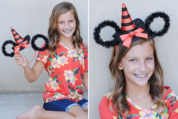If you are traveling to Disneyland during the most spook-tacular time of year or just want a cute addition to your holiday costume, these Minnie Ears are a frightfully fun touch to add to your Halloween look. www.orsoshesays.com