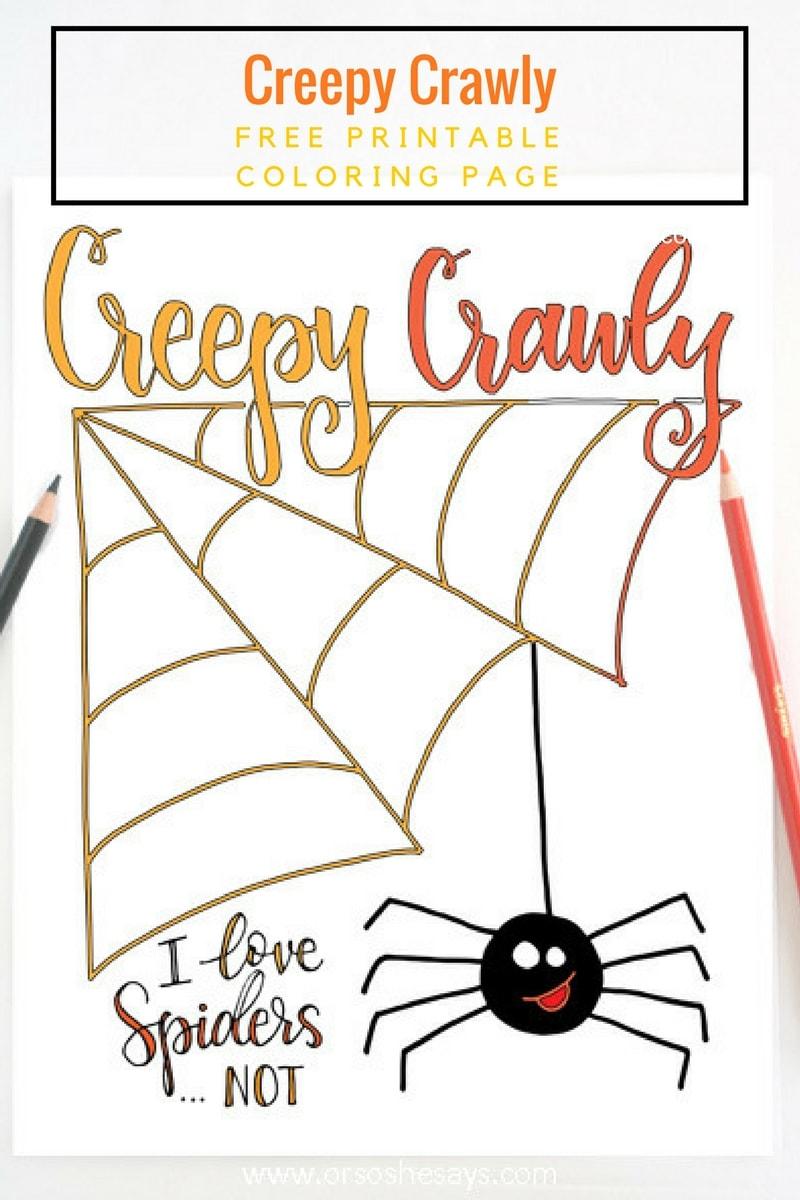 Halloween Coloring Page - Free Printable (she: Liz)