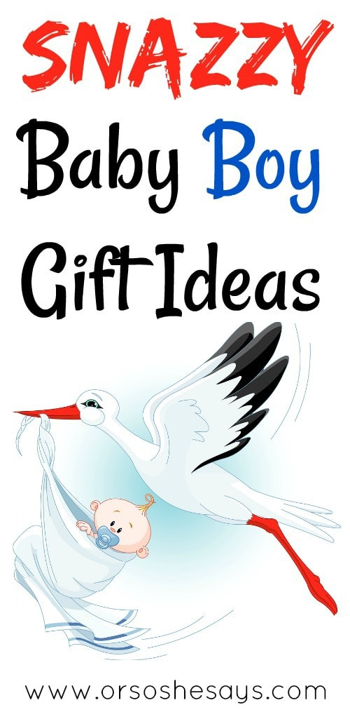 I love these suggestions for baby boy gifts!