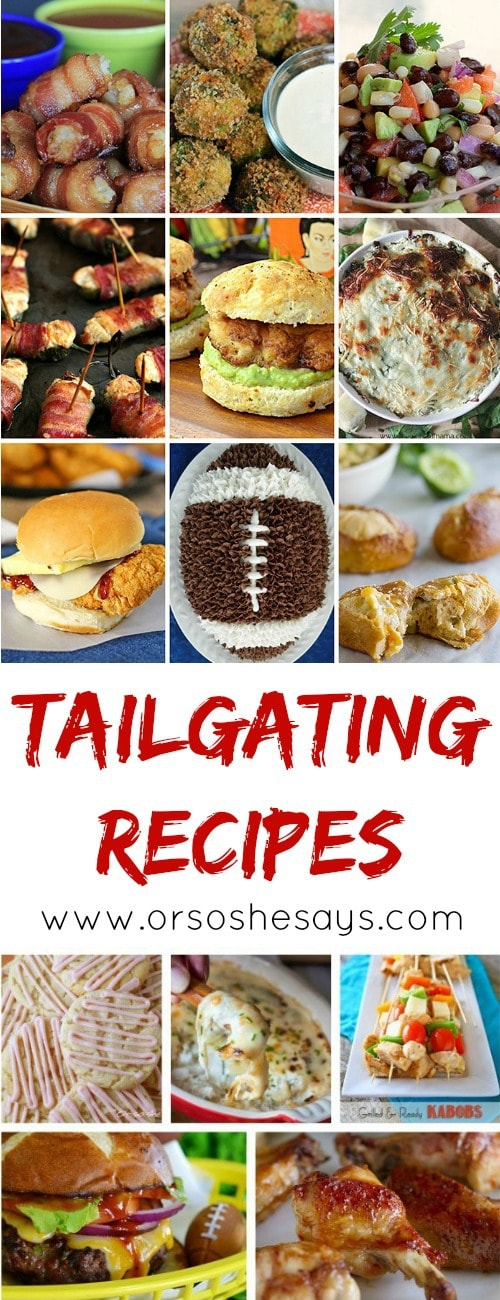 This is an AWESOME collection of tailgating food ideas! The yummiest appetizers and desserts, perfect for any football party!! #tailgating #football #party