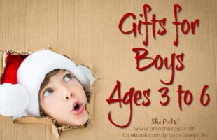 Gifts for Boys, ages 3 to 6 #shepicks