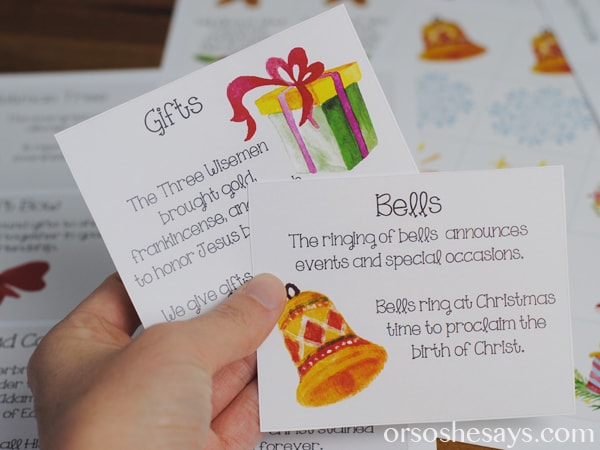 Knowing the background of the Christmas symbols makes them even more meaningful and special. This family night lesson will help you discover the symbolism behind a collection of popular Christmas symbols. It will bring new meaning to the season as you realize your are surrounded by beautiful reminders of God's love, peace, family, and hope. Get the whole lesson on www.orsoshesays.com.