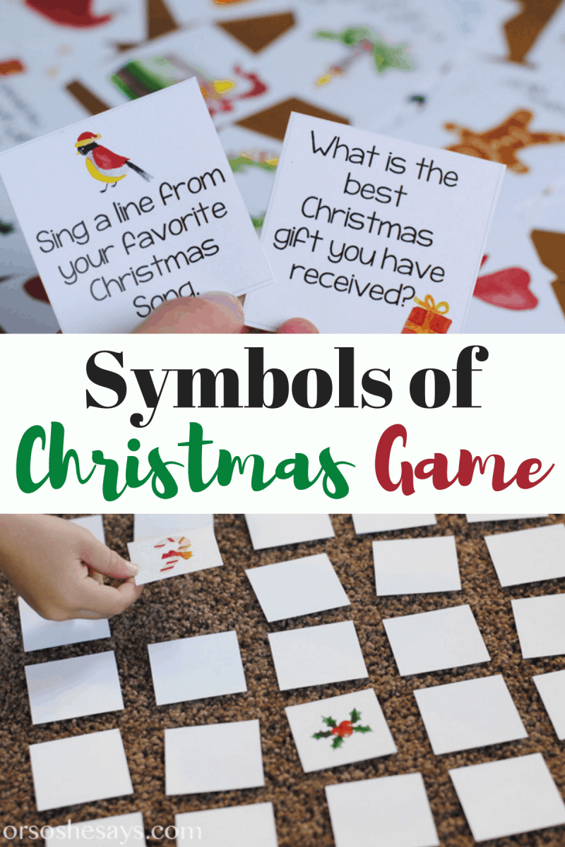 Symbols of Christmas ~ Printable Matching Game and Lesson #christmas #christmaswithkids #christmassymbols