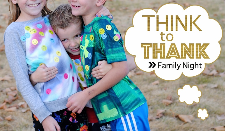 November is a month of gratitude. Gratitude is an important lesson and one that cannot be overdone. Unlike a turkey. Those tasty birds can definitely dry out if left in the oven too long! Get this Family Night lesson at www.orsoshesays.com.