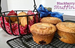 Blackberry muffins are the perfect mix of tart and sweet, and they're great for breakfast on the go. Get the recipe from Jana today on the blog! www.orsoshesays.com