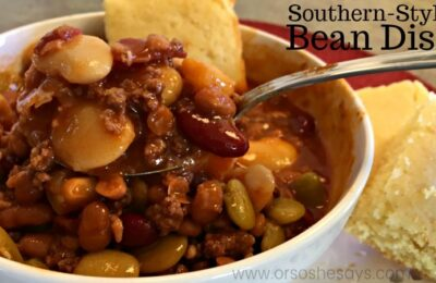 Beans sweetened with brown sugar and flavored with bacon make this instant pot soup recipe a must-try! It's a true southern dish the whole family will love. Get the recipe at www.orsoshesays.com.