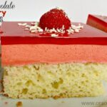 White Chocolate Raspberry Jello Cake (she: Jana)
