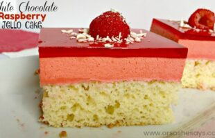 White Chocolate Raspberry Jello Cake (she: Jana)