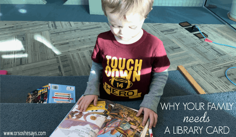 No matter where you live there's a good chance you have some type of library to take advantage of. Libraries are a great way to entertain the whole family for free! See why your family NEEDS a library card: www.orsoshesays.com