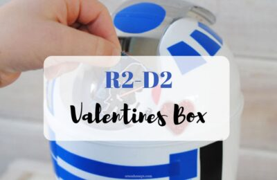You are going to love today's last-minute Valentine's Day craft: an R2-D2 Valentines Box! Get the instructions on www.orsoshesays.com #valentinesday #valentine #r2d2 #starwars #starwarsvalentine