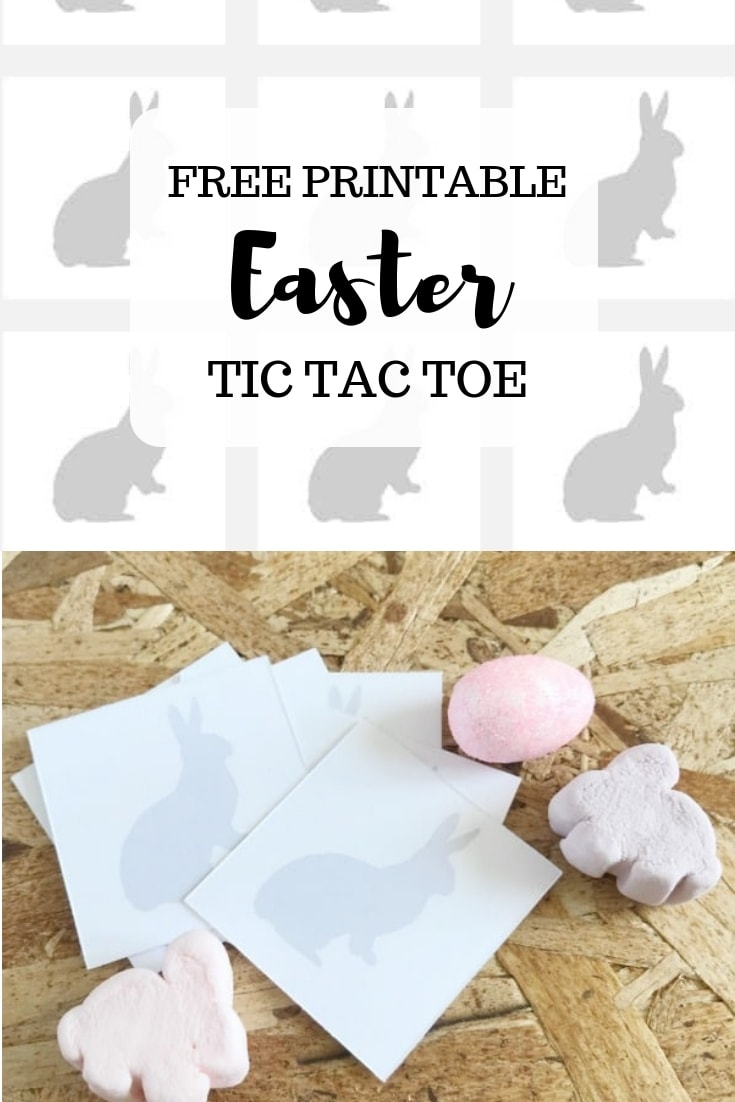 Free printable Easter tic tac toe on www.orsoshesays.com #Easter #games