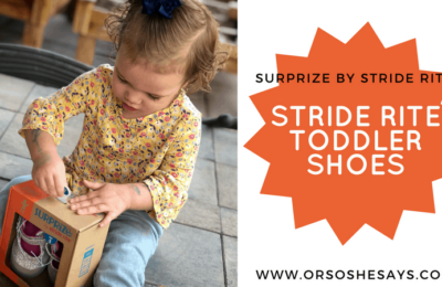 If your kids can't go barefoot, Stride Rite toddler shoes are the next best thing! See why they're the perfect fit on the blog: www.orsoshesays.com #StrideRiteShoes #StrideRite #Shoes #ToddlerShoes #BestShoesforToddlers #surprizebystriderite #surprizeshoes #ldsblogger #lds #mormonblogger #blogger #fashion #toddlerfashion #earlywalkershoes #babyshoes #targetshoes #athleticshoes