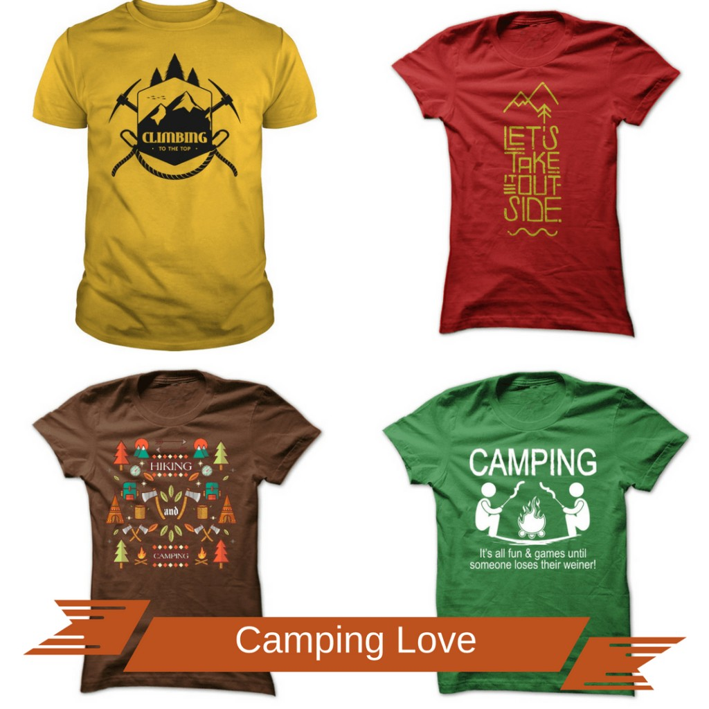 10 camping shirts that prove your OBSESSION with the outdoors! #camping #outdoors #tshirts #campingshirts #giftsformen #giftsforwomen