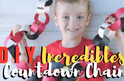 """If you're looking to make your next Disney vacation even more """"super"""", you'll want to be sure to check out the Incredibles movie countdown chain in today's post. With Pixar Fest in full-swing at the Disneyland Resort, you'll be able to have the most """"Incredible"""" summer yet! Get the free Incredibles printables on the blog today: www.orsoshesays.com #theincrediblesmovie #theincrediblesmoviecountdownchain #countdownchair #theincrediblesprintables #printables #disney #pixar #disneyland #pixarfest #ldsblogger #lds #blogger #mormonblogger #mormon #familyfun #familyvacation"""