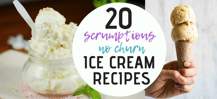 20 Scrumptious No Churn Ice Cream Recipes - www.orsoshesays.com #nochurnicecream #icecream #summer #recipes #osss