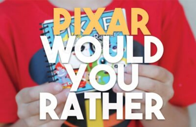 With the new Incredibles movie out, it's time to see how you can make your own Pixar-themed Would You Rather questions game at home. www.orsoshesays.com #pixar #disneypixar #wouldyourather #wouldyouratherquestionsgames #wouldyourathergame #incredibles #disney #osss