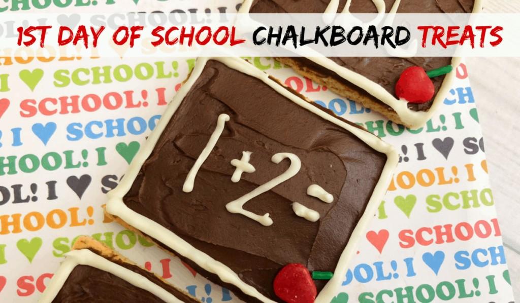 First Day of School Chalkboard Treats #backtoschool #firstdayofschool #chalkboard #recipesforkids