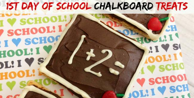 First Day of School Chalkboard Treats