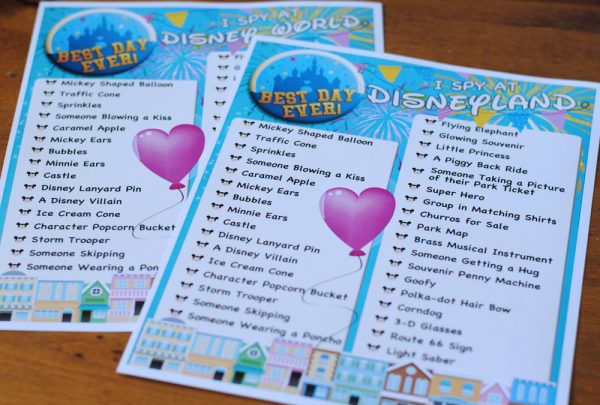 picture about Disney World Printable Tickets identified as I Spy Cost-free Printable - Disney Parks Model - Or as a result she claims